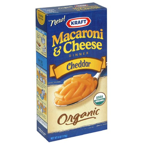 Kraft Organic Macaroni & Cheese Dinner, Cheddar, 6-Ounce Boxes (Pack of 12)