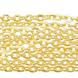 Charm Buddy 10 Metres x Gold Plated Cable Chains 3mm x 2.5mm for Jewellery Making Findings Craft