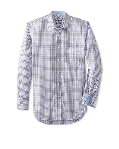 J. McLaughlin Men's Clinton Slim Fit Tattersall Shirt