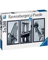 Ravensburger - 16293 - Puzzle Classique - 3X500 Pièces - Triptyque - New York