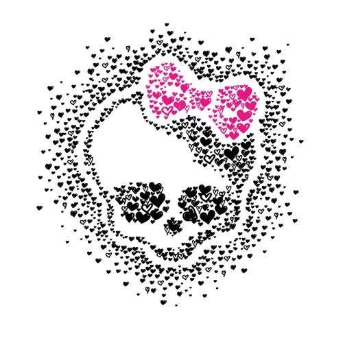 Roommates Rmk2258Slm Monster High Heart Skullette Peel And Stick Wall Decals
