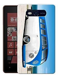 "Humor Gang Minivan Beach Printed Designer Mobile Back Cover For ""Nokia Lumia 820"" (3D, Matte, Premium Quality Snap On Case)"