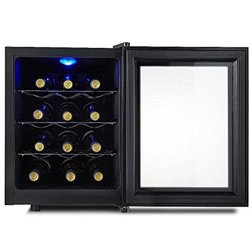 kalamera 12 bottle freestanding single zone wine cooler. Black Bedroom Furniture Sets. Home Design Ideas