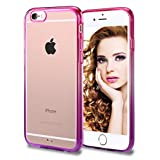 iPhone 6 Case, Vofolen® iPhone 6 Cover Colorful Clear Shell Slim Case Translucent Impact Resistant Flexible TPU Soft Bumper Case Protective Shell for Apple iPhone 6 6S 4.7 inch (Rose Purple)