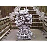 Shield Gargoyle Garden Ornament. Reconstituted stone. Superb Details.