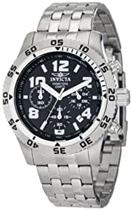 Invicta Men's 1488 Chronograph Black Dial Stainless Steel Watch