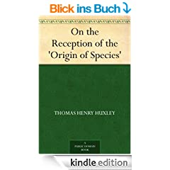 On the Reception of the 'Origin of Species' (English Edition)