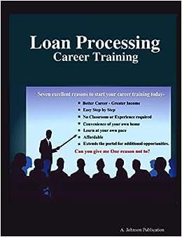 Loan Processing: Career Training