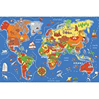 Play Carpet Where In The World Multi Kids Rug from Learning Carpets