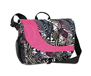 High Sierra 1342-Cubic Inches Chip Messenger Bag (Zebra, Cerise)