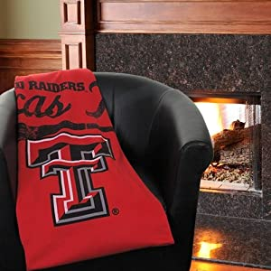 Texas Tech Sweatshirt Throw Blanket by Northwest
