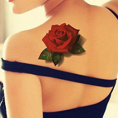 tafly-impermeable-rojo-mariposa-3d-rose-flower-sticker-tatuaje-arte-corporal-falsos-decal-tatuaje-te