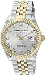 "Stuhrling Original Men's 599G.04 ""Symphony Regent Coronet"" Swiss Quartz Date Two- Tone Link Bracelet Watch"