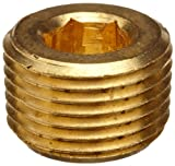 """Lead Free Pipe Fitting, Hex Countersunk Plug, 3/8"""" NPT Male"""