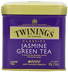 Twinings Jasmine Green Tea, Loose Tea, 3.53-Ounce Tins (Pack of 6)
