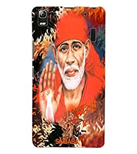 ColourCraft Lord Sai Baba Design Back Case Cover for LENOVO K3 NOTE