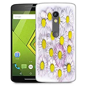 Snoogg daisies isolated on a white background Designer Protective Back Case Cover For Motorola Moto G4