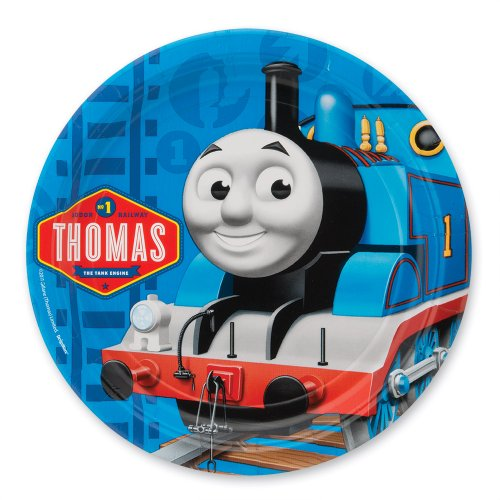 "Thomas The Train Party 9"" Plates - Party Supplies - 8 per Pack - 1"
