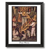 Diego Rivera Corn Harvest Contemporary Home Decor Wall Picture Black Framed Art Print
