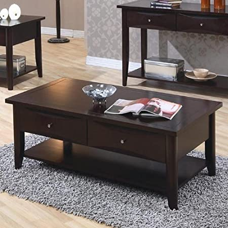 Coaster Home Furnishings 700968 Casual Coffee Table, Cappuccino