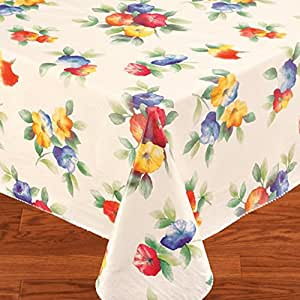 Water Flower 52x52 Vinyl Tablecloth Flannel Backing