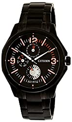 Citizen Eco-Drive Analog Black Dial Mens Watch AP4005-54E
