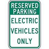ComplianceSigns Reflective Aluminum Parking - Designated / Reserved sign 18 x 12 in. Surface / Post Mount - White