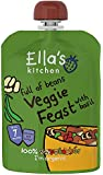 Ella's Kitchen Stage 2 from 7 Months Organic Hugely Hearty Four Bean Feast with Big Flavour (Pack of 6)