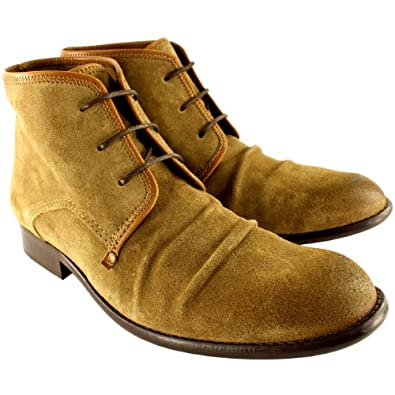 Mens Fly London Watt Chukka Smart Suede Oxfords Shoes Ankle High Boots - Tan - 11