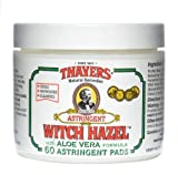 Thayers Witch Hazel with Aloe Vera Astringent Pads, Herbal 60 count