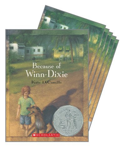 Because Of Winn Dixie By Kate Dicamillo Classroom Reading Set Of Six Paperback Books