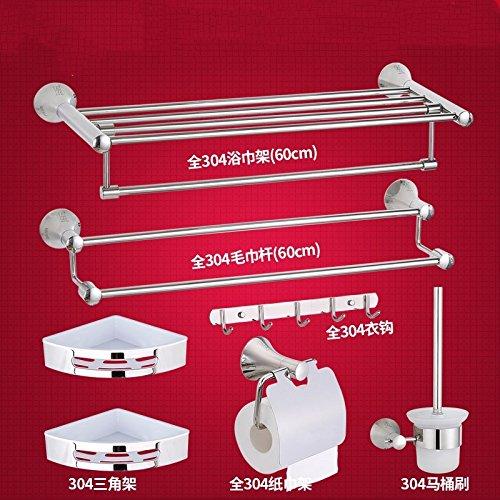 SJUN Asciugamano Rack Da Bagno Mensola Asciugamano Rack In Acciaio Inox Bagno Accessori Hardware Impostata,Impostare Un