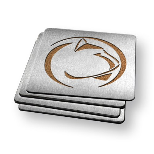 NCAA Penn State Nittany Lions Boasters, Heavy Duty Stainless Steel Coasters, Set of 4