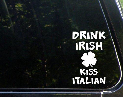 drink-irish-kiss-italian-4-x-6-vinyl-die-cut-decal-bumper-sticker-for-windows-cars-trucks-laptops-et