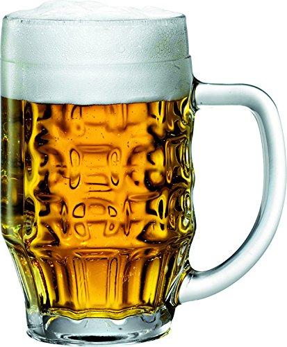 Fischer - 6 boccali da birra Malles in vetro da birreria, 0,4 l, 47,5 cl