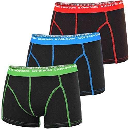 bjorn-borg-3-to-go-stretch-boxershorts-baumwolle-blau-rot-grun