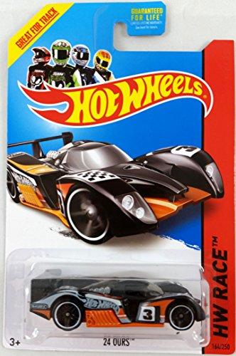 Hot Wheels 2014 Hw Racing Track Aces HW Race 24 Ours (Orange & Black) 164/250 - 1