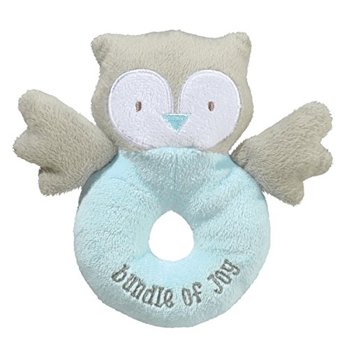 Grasslands Road Fabric Rattle Blue Owl Bundle of Joy