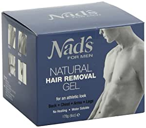 Nad's No-Heat Hair Removal Gel for Men, 1 Kit