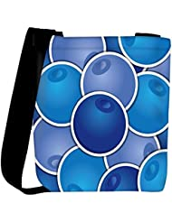 Snoogg Blueberry Background Card In Vector Format Womens Carry Around Cross Body Tote Handbag Sling Bags