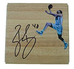 Ryan Bowen Autographed New Orleans Hornets Photo Floorboard, Proof Photo