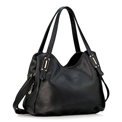 cloudbag-hb30049-genuine-leather-handbag-for-womenelegant-litchi-shoulder-bagsblack