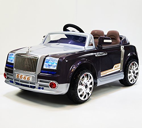 Phant6666 grey Rolls Royce Phantom Style Ride-on Car for Kids 2-7 years old with Remote Control (Rolls Royce For Kids compare prices)