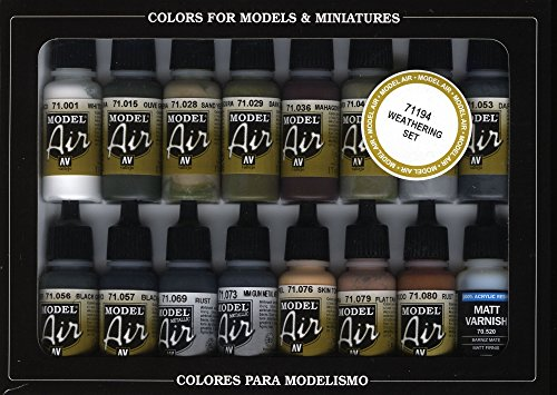Vallejo Weathering Model Air Paint, 17ml (Vallejo Model Air compare prices)