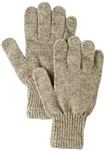 Fox River Men's Mid Weight Ragg Glove, Brown Tweed, Small