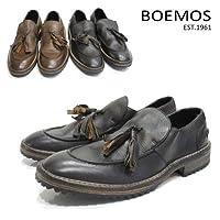 【BOEMOS ボエモス】メンズ イタリア製 レザー タッセルローファー【1087】