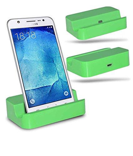 Samsung Galaxy J7 SM-J700F Station d'accueil de bureau avec chargeur Micro USB support de chargement - Green - By Gadget Giant®