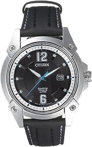 Citizen BM7050-21E - Reloj analógico de cuarzo para hombre con correa de titanio, color negro