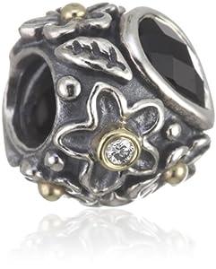 Pandora 790540O Flower dreams schwarz, 925 Sterling Silber & Onyx
