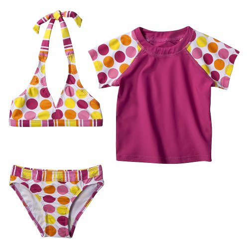Girls' Swimwear Xhilaration White 3 pc Bikini Set